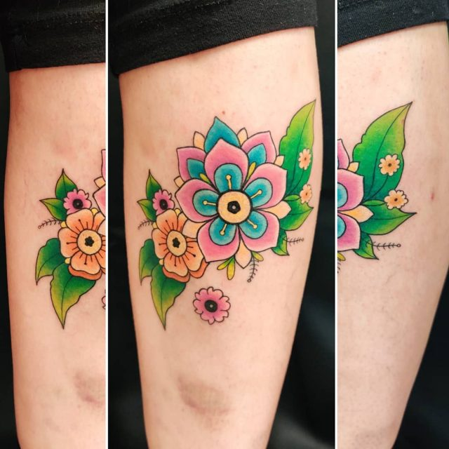 Väriterapiaa #tatuointi #artelysior #tattooparlour #artcollective #hyvinkää