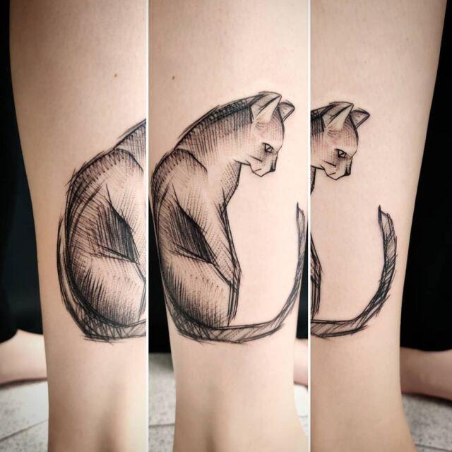 #sketchtattoo #cat #artelysior #tattooparlour #artcollective #hyvinkää #sketch #tattoo #luonnos #kissa #tatuointi #tpartcollective